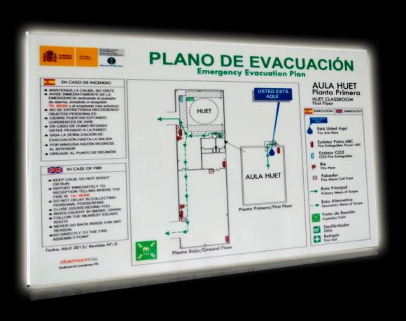 plano evacuación esta usted aquí