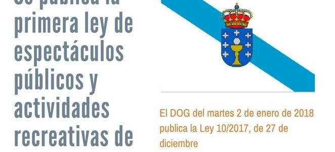 Publicación de la nueva Ley de espectáculos públicos y actividades recreativas de Galicia